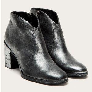Frye Nora Metallic Italian Leather Zip Bootie